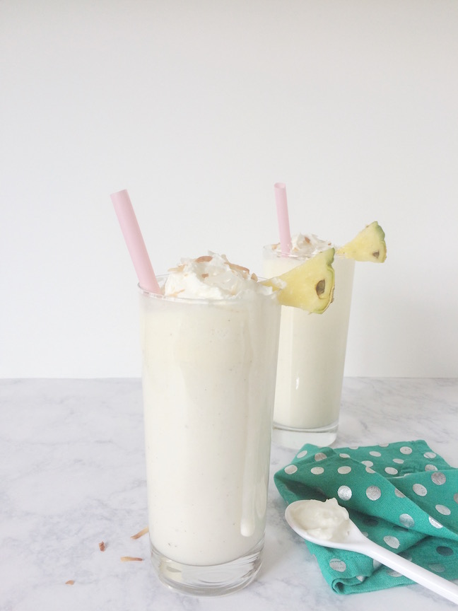 Guilt-Free Toasted Coconut Pineapple Arctic Zero Shake