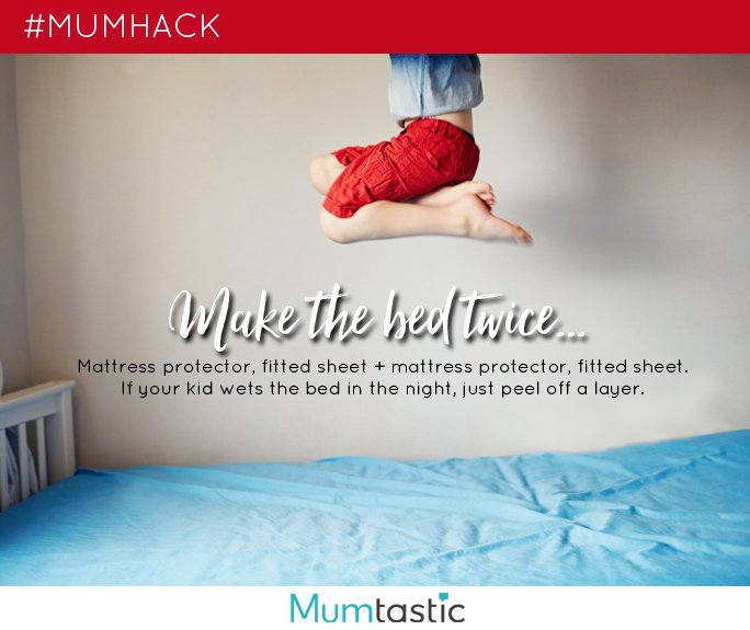Mum Hack - fitted sheet trick for bed wetters