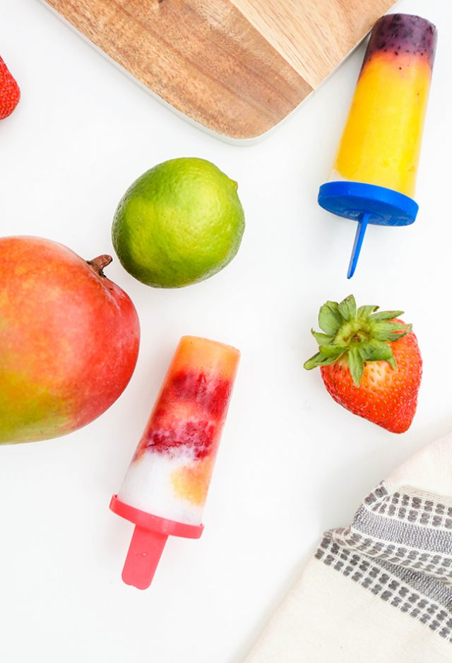 DIY Fruitastic Colorblocked Popsicles