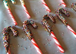 These Chocolate-Dipped Candy Canes Are Holiday Party Gold
