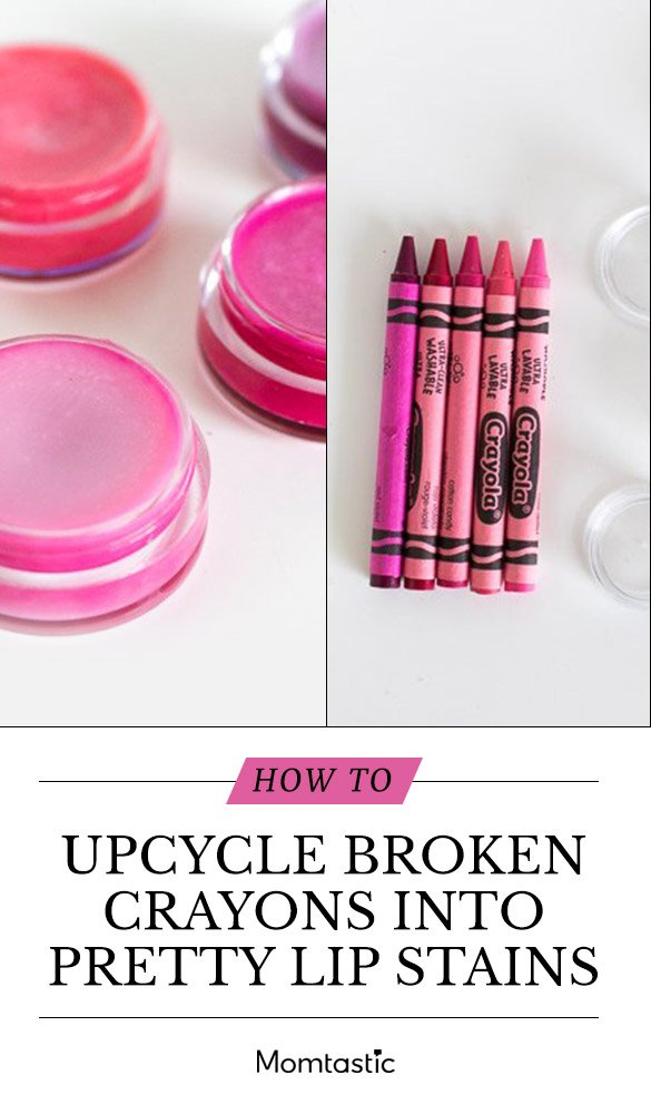 How To Upcycle Broken Crayons Into Pretty Lip Stains