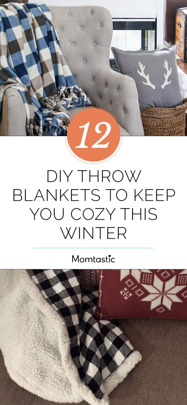 12 DIY Throw Blankets to Keep You Cozy This Winter