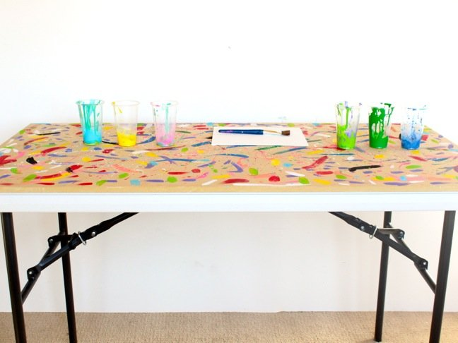 Genius Mom Hack: Easy, Foldup DIY Art Table for Kids