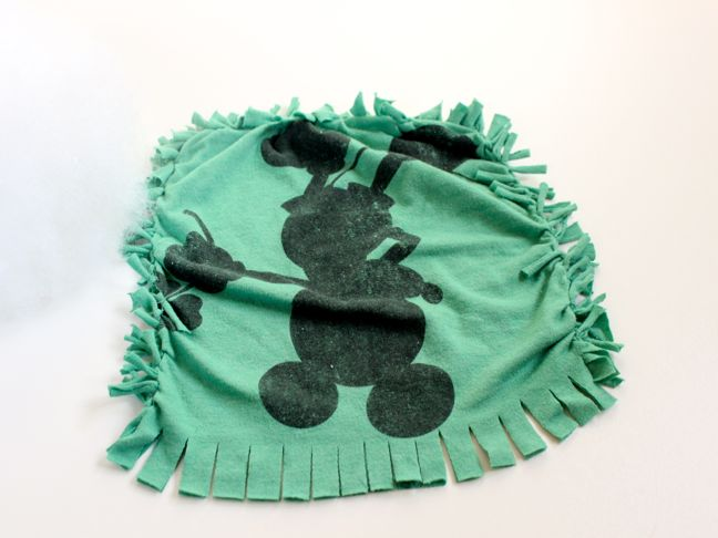 green-mickey-shirt-transforming-into-a-diy-pillow-for-kids