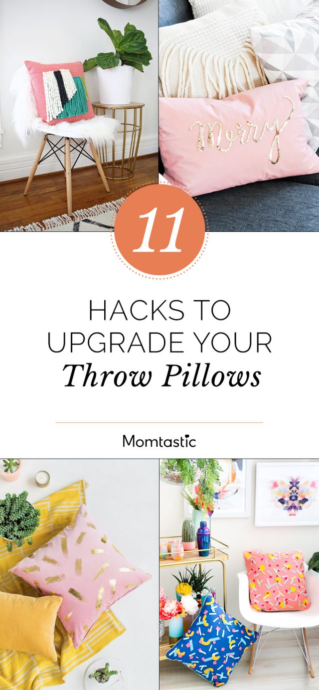 11 Hacks To Upgrade Your Throw Pillows