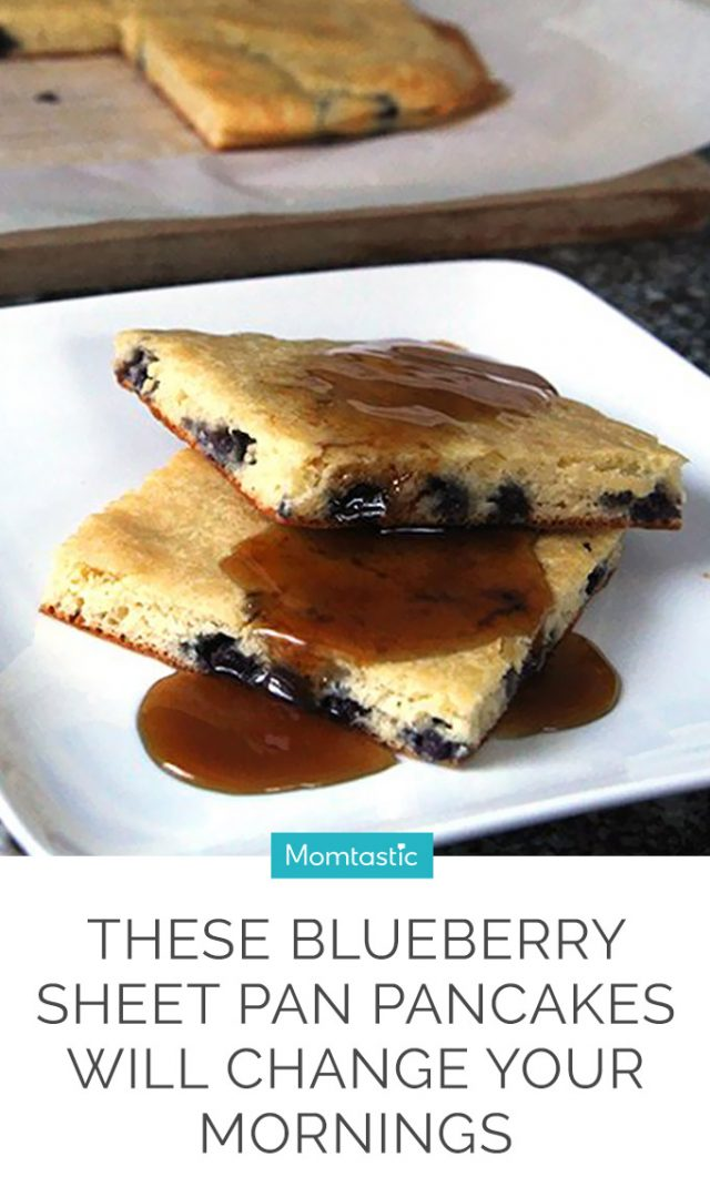These Blueberry Sheet Pan Pancakes Will Change Your Mornings
