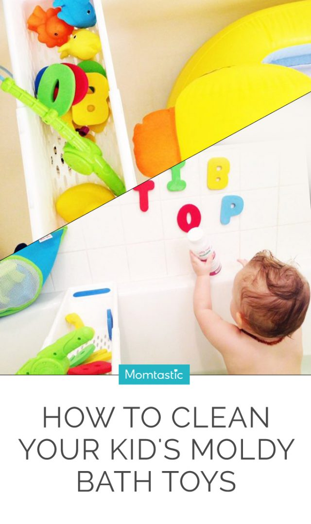 How To Clean Your Kid's Moldy Bath Toys