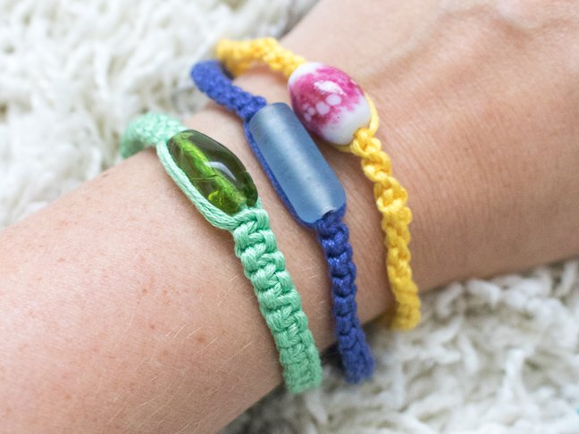 Teens will Love Customizing these Simple Macrame Bracelets