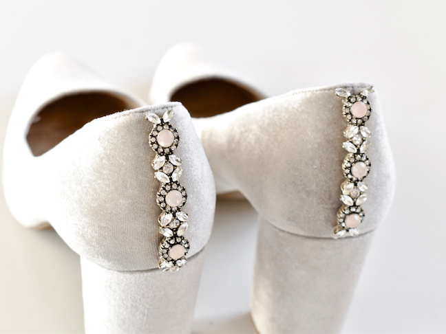 Make DIY Embellished Shoes for a Glam Holiday Season