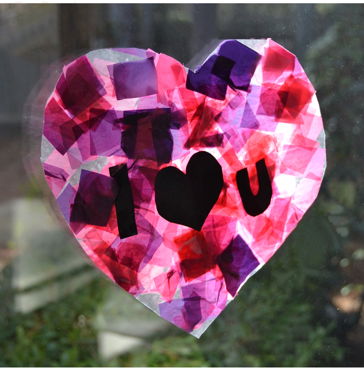 "Easy ""Stained Glass"" Valentines to Make with your Kids"