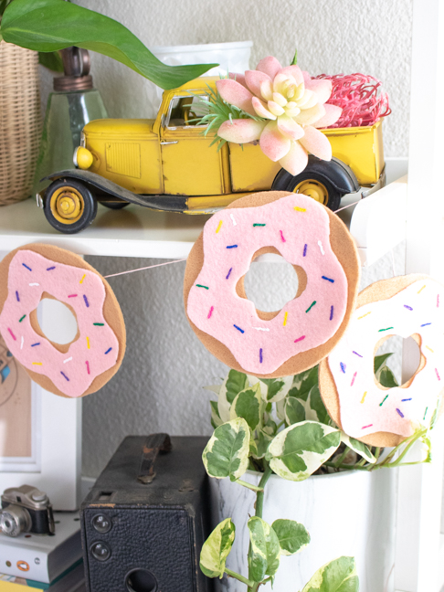 Celebrate Birthdays with a Homemade Donut Garland Using Felt