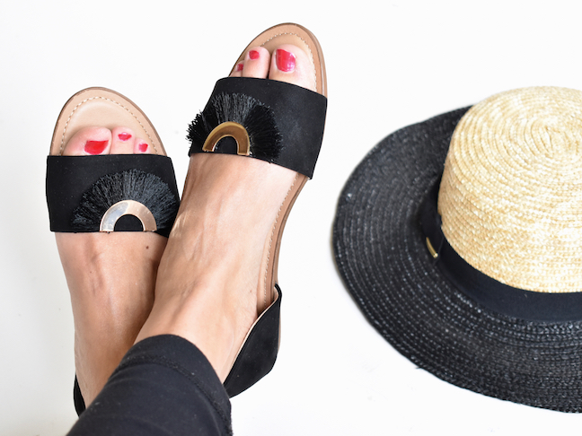 Recycle Fringe Earrings For A Fantastic DIY Shoe Upgrade