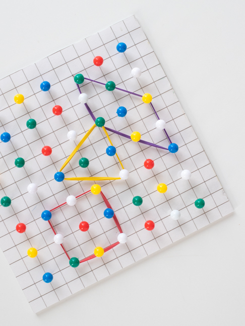 This DIY Geoboard will Help Your Kids Learn Shapes and Math