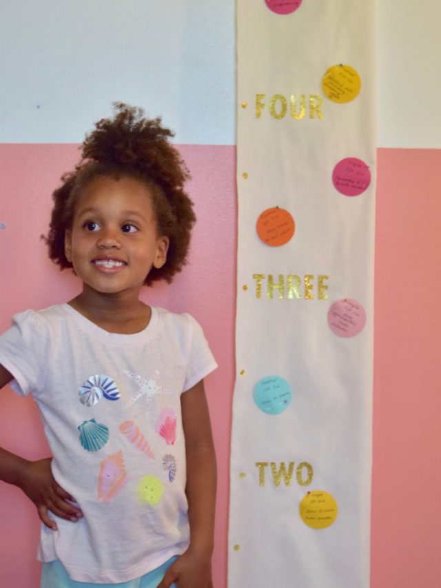 DIY Polka Dot Milestone Growth Chart
