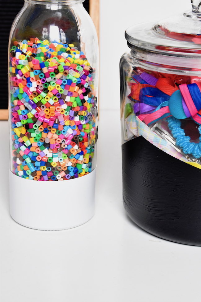 Time to Get Organised With These Pretty DIY Painted Storage Jars
