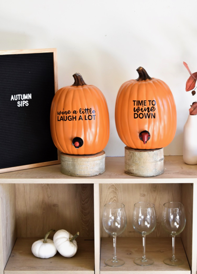 This Fall's Must-Have Bar Accessory: A DIY Pumpkin Wine Dispenser