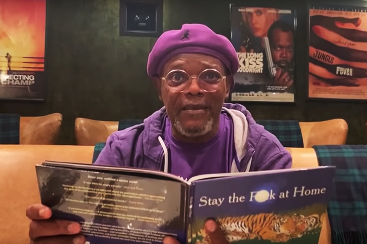 Samuel L. Jackson Kindly Reminds Us to Stay the 'F**k At Home'
