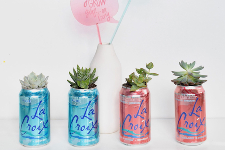 Recycle LaCroix boxes for this Sparkly DIY Baby Shower Assortment