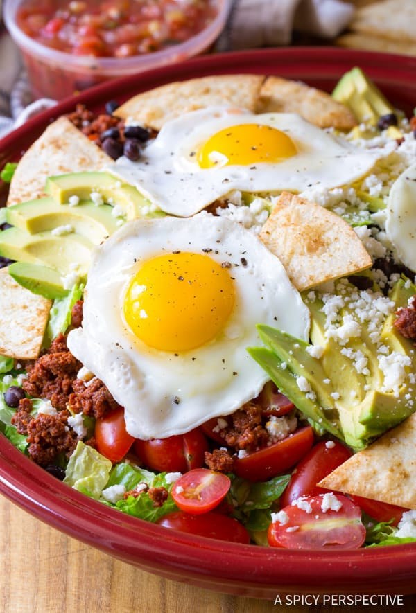 Spicy Mexican Breakfast Salad