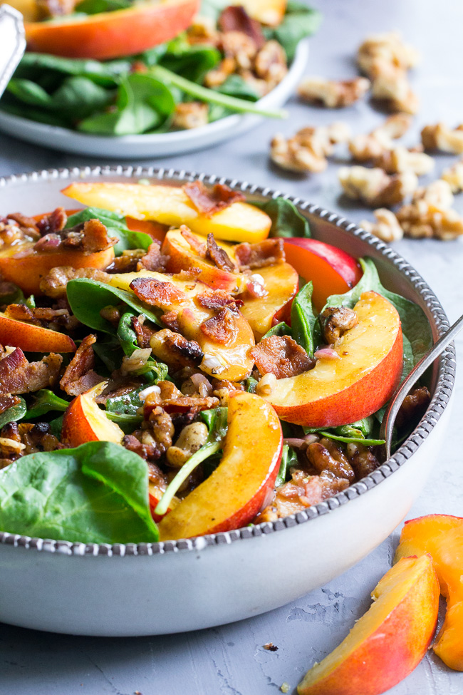 Nectarine Salad With Bacon