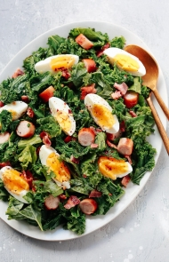 Kale and Sausage Breakfast Salad