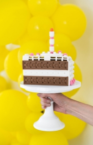 Modern Lego Cake Birthday Party Idea