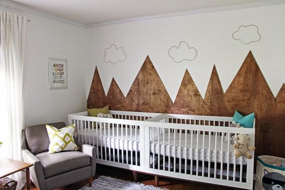 Woodsy, Gender-Neutral Nursery for Twins