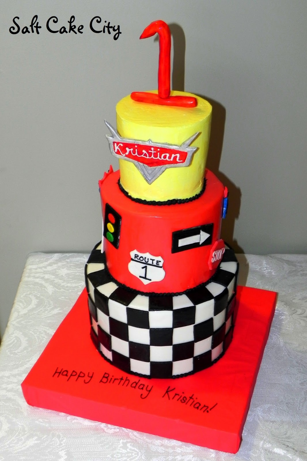 Start Your Engines Cake