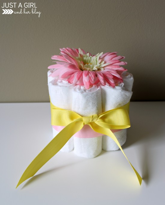 Bow Wrapped Diaper Vase