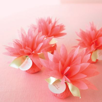 Pretty Paper Flower Favors