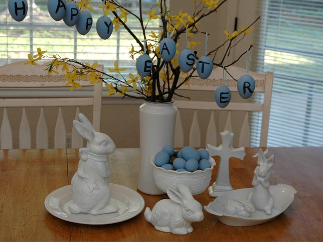 Pottery Barn Inspired Easter Tablescape