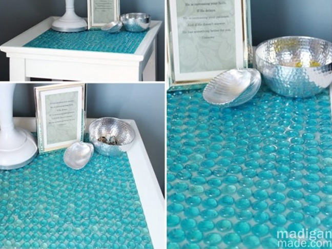 Glass Marble Table Top