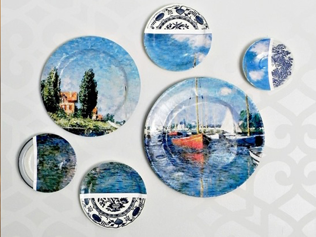 Collage Art Plates