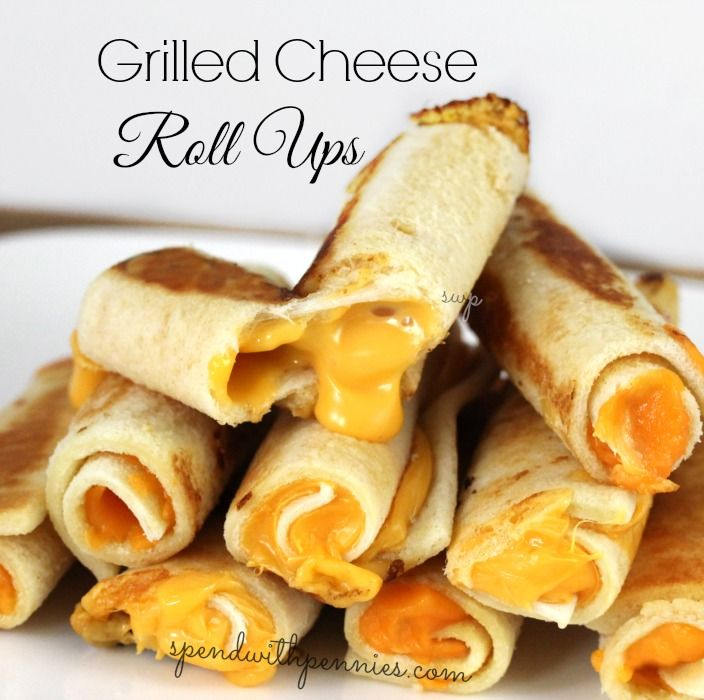 Rolled Grilled Cheese