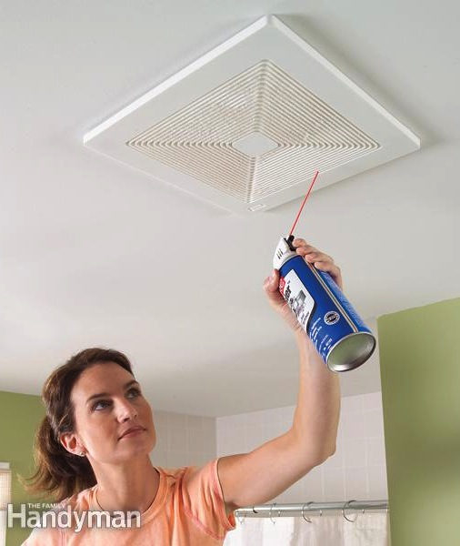 Clean Your Bathroom Vents With Canned Air