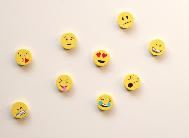 DIY Emoji Locker Magnets