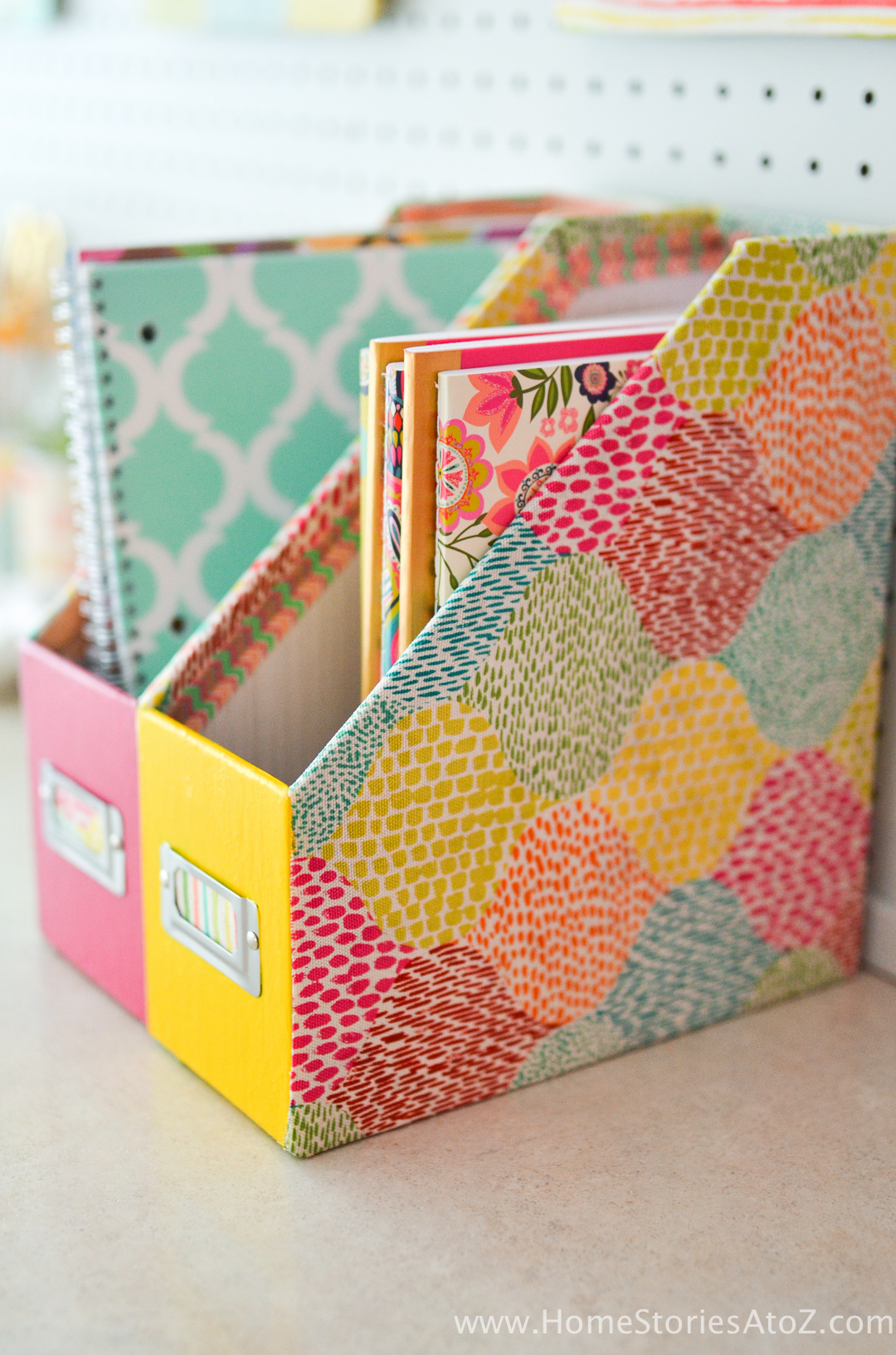 DIY Notebook Locker Organizers