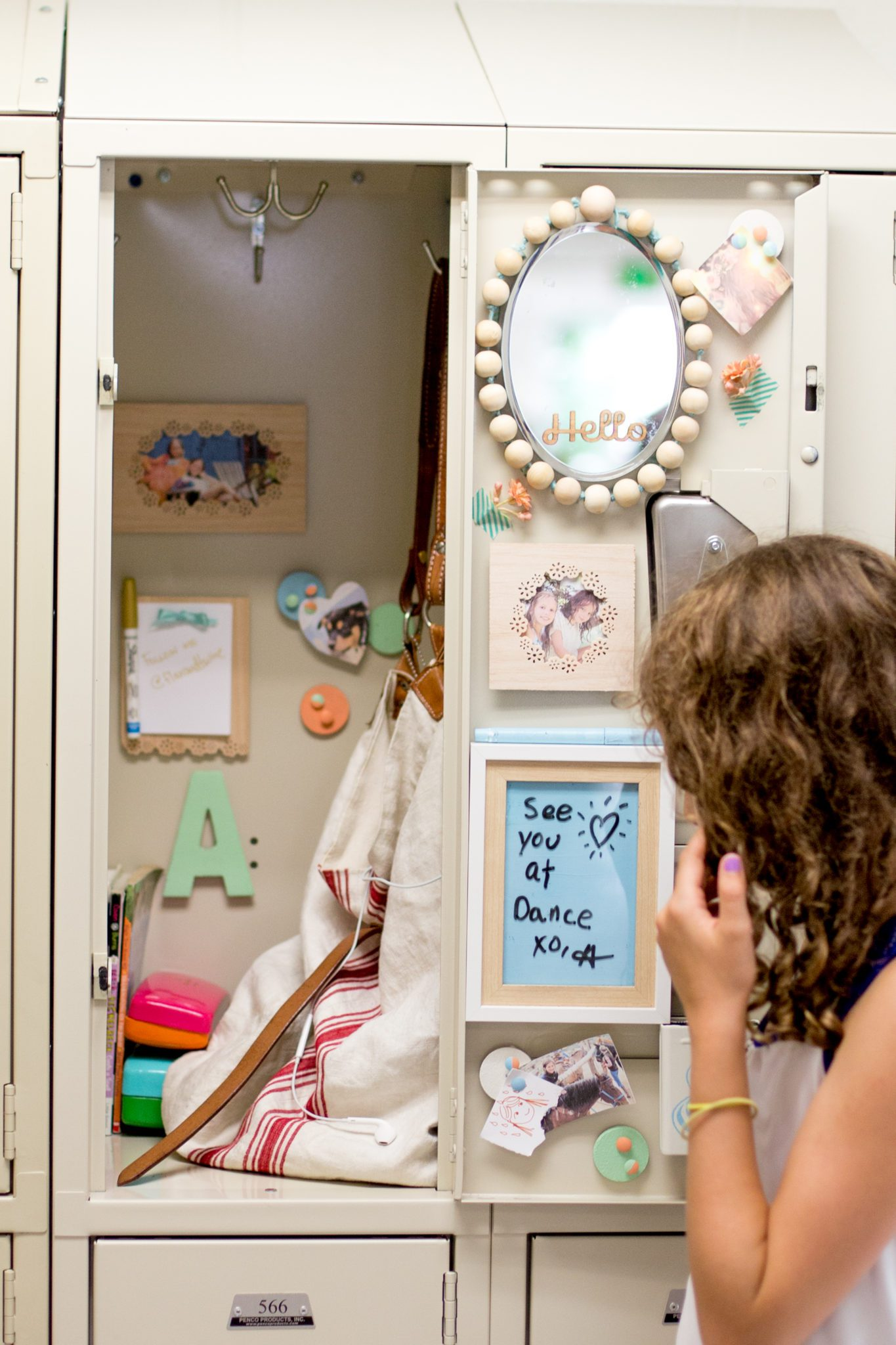 DIY Locker Punch Border Picture Frames