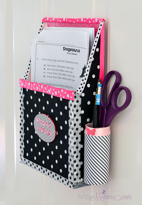 DIY Hanging Homework Holder