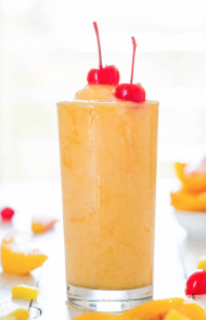 Tropical Peach Pineapple Slushy