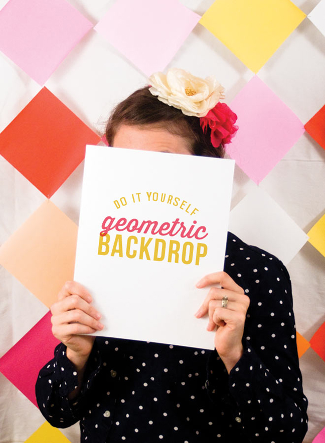 Turn Colored Paper Into a Geometric Backdrop