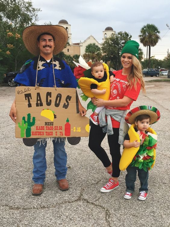 Tacos and Hot Sauce Costumes