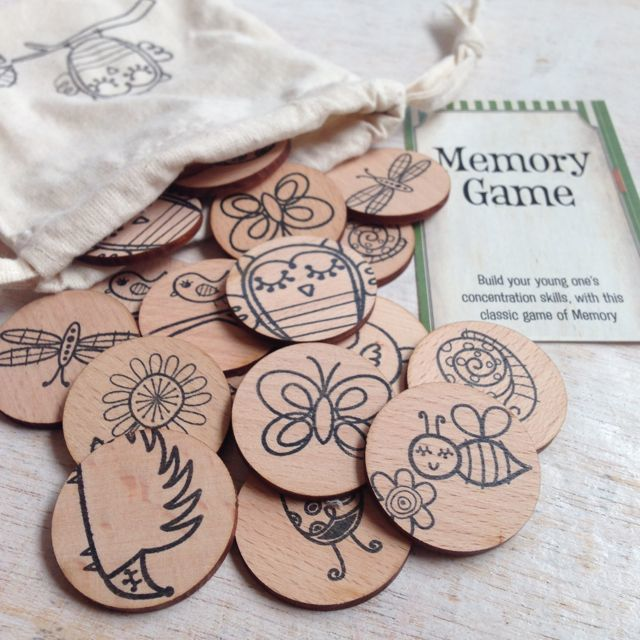 Games to Go Wooden Woodland Memory Game