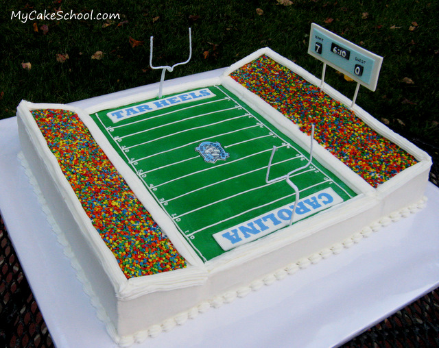 DIY Football Stadium Cake
