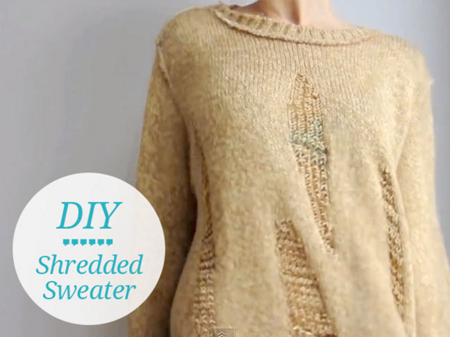 DIY Shredded Sweater