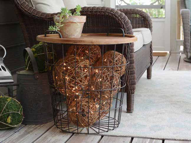 DIY Lighted Side Table