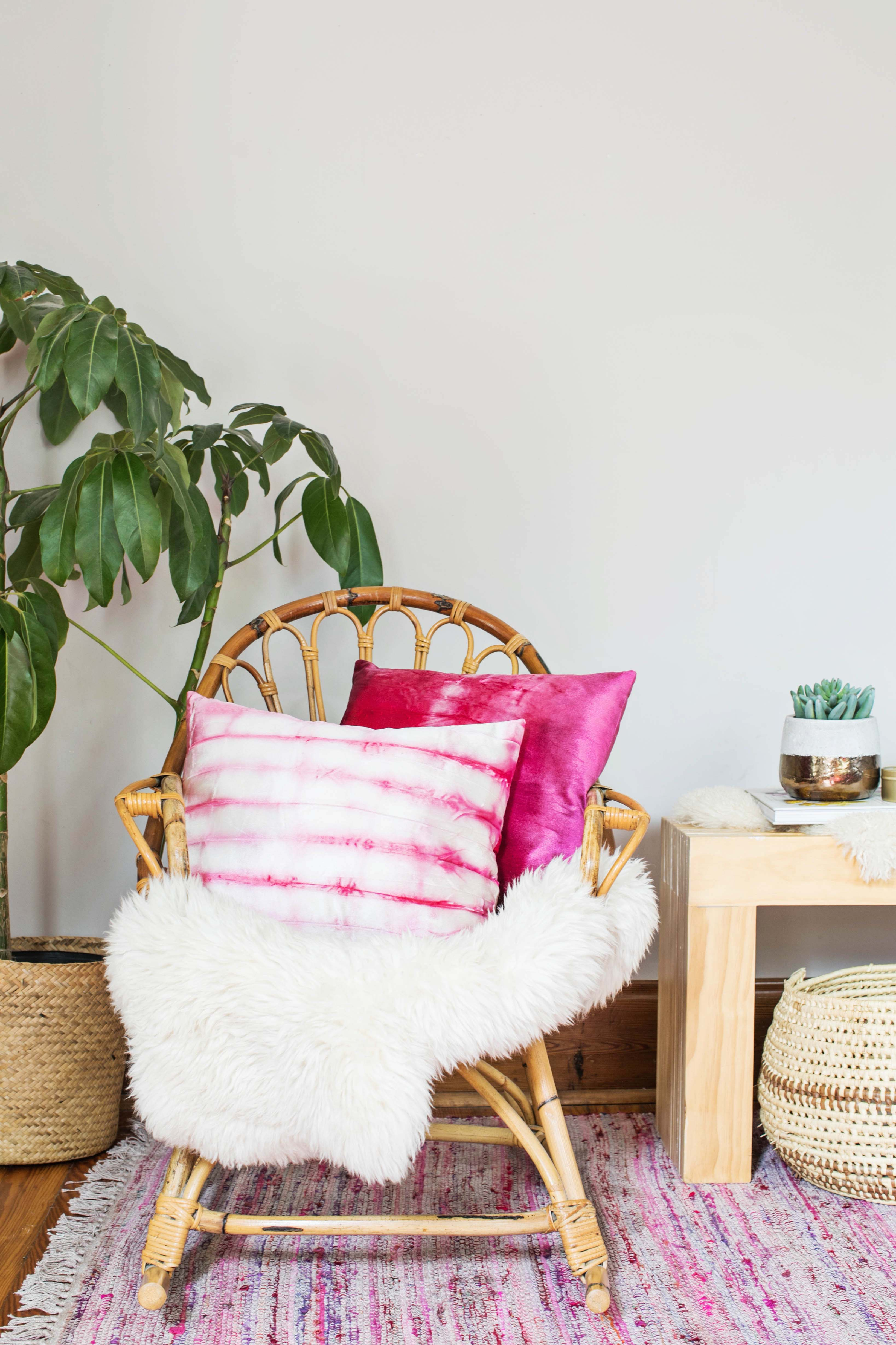 DIY Dyed Velvet Pillow