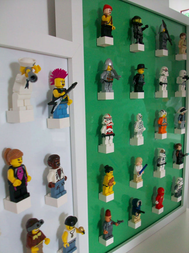 Lego Figurine Display Wall