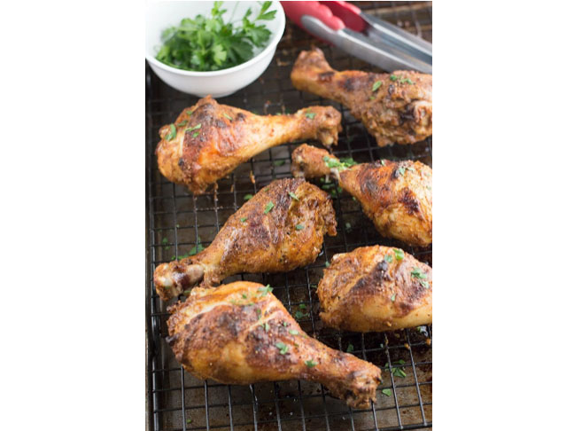 Tandoori Inspired Roasted Chicken Legs