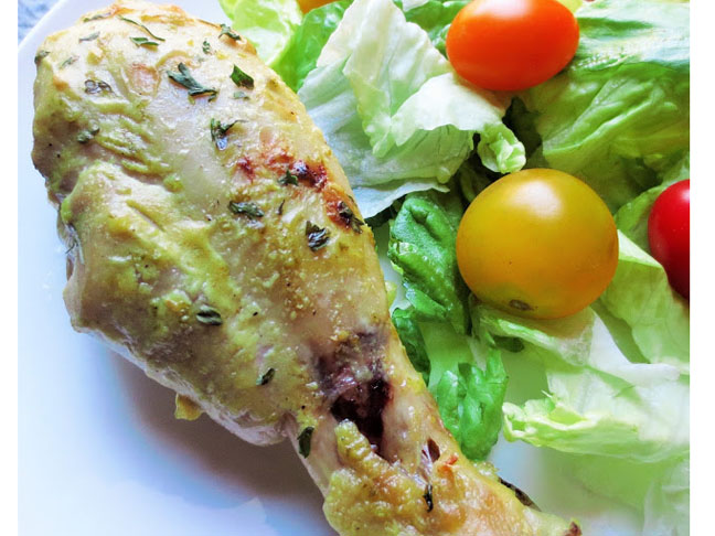 Dijon & Lime Baked Chicken Drumsticks